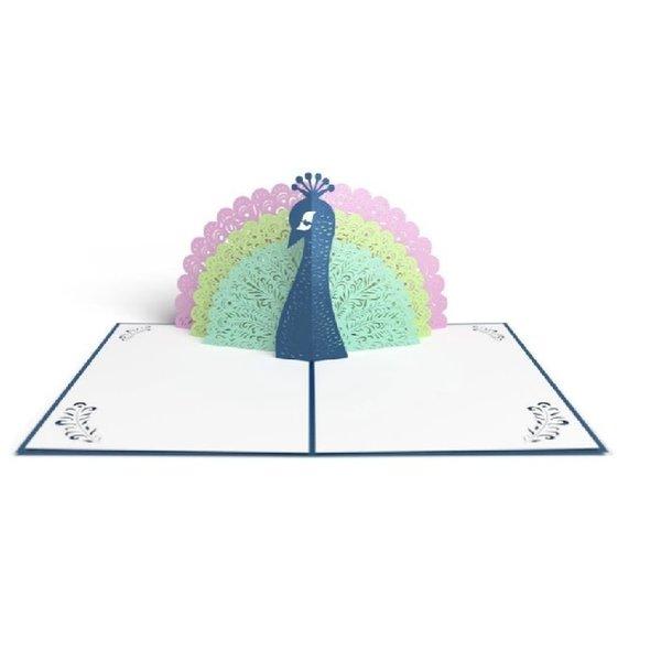 3D Peacock Card