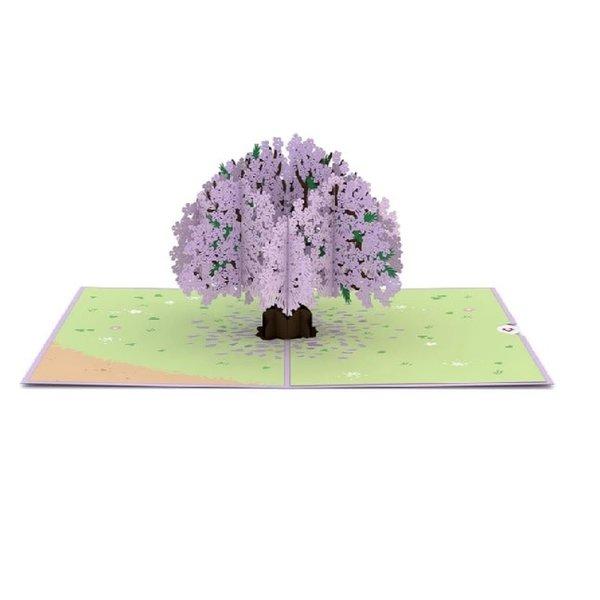 3D Jacaranda Tree Card