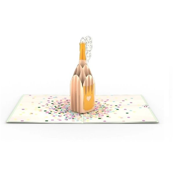3D Champagne Pop Card