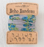 Blue Blooms Headband