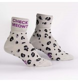 Cuff Crew Socks Check Meowt