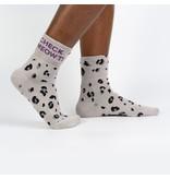 Cuff Crew Socks Check Meowt