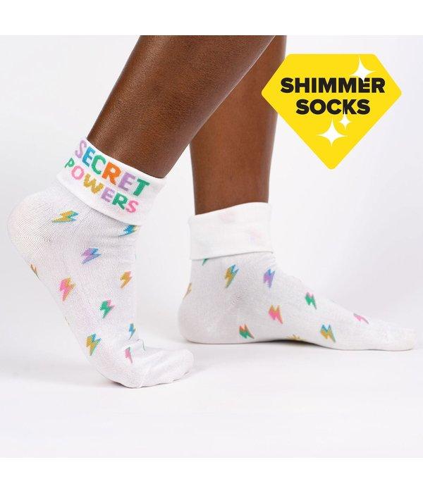 Cuff Crew Socks Secret Powers