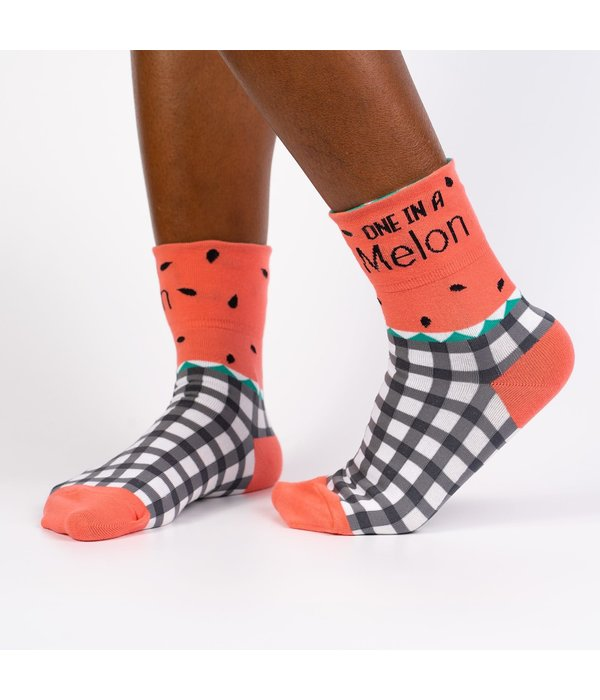 Cuff Crew Socks One in a Melon