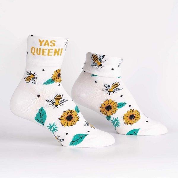 Cuff Crew Socks Yas Queen