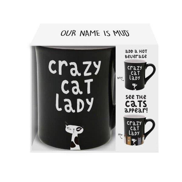 Crazy Cat Heat Activated Mug