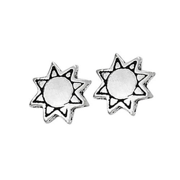 Tiny Sun Stud Earrings