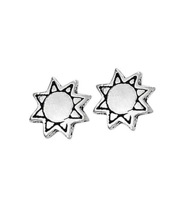 Tiny Sun Stud Earrings