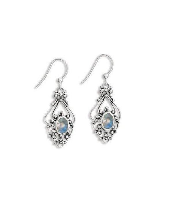Oval Moon Stone Earrings