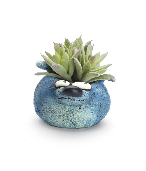Bear Blue Planter