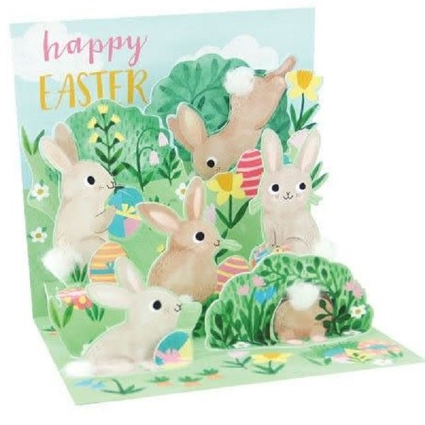 Easter Card - Bunnies Everywhere