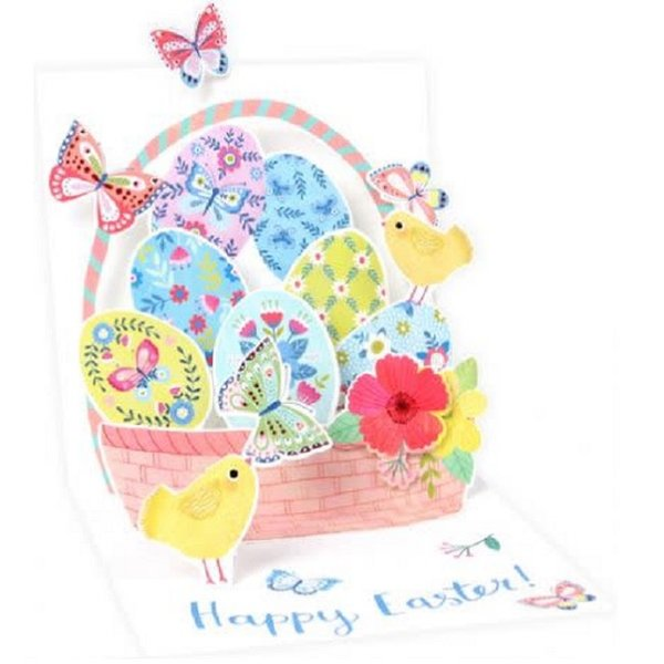 Easter Card - Butterfly Basket