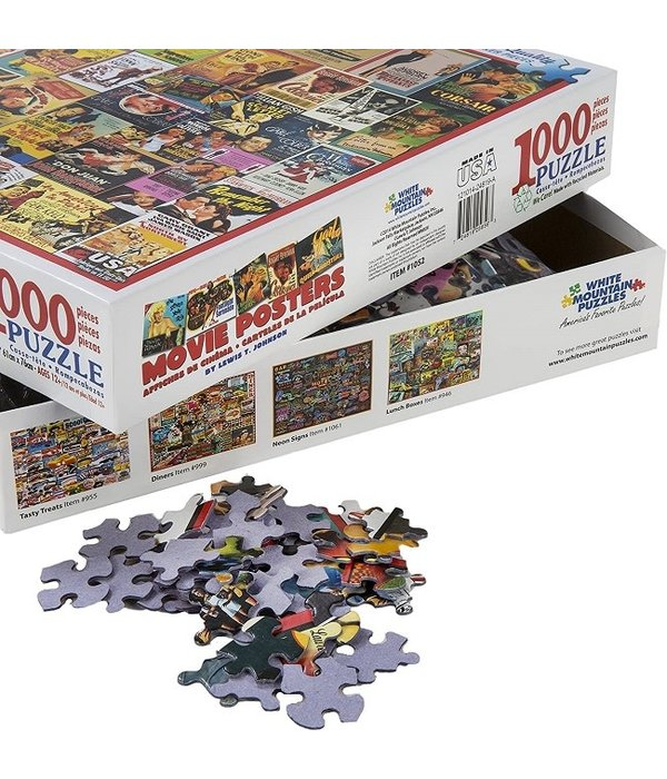 White MTN Puzzles Movie Posters 1000 Piece Puzzle