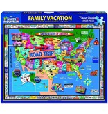White MTN Puzzles Family Road Trip 1000pc Puzzle 724819261598