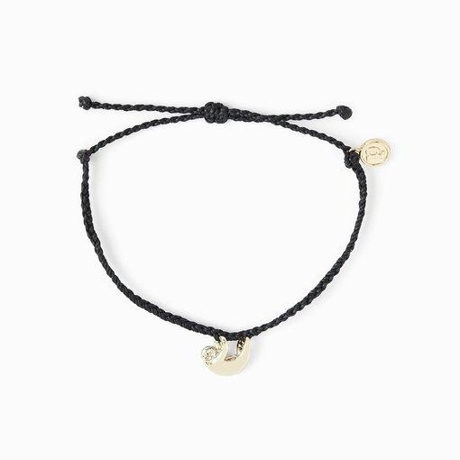 Pura Vida Sloth Pura Vida Black Bracelet