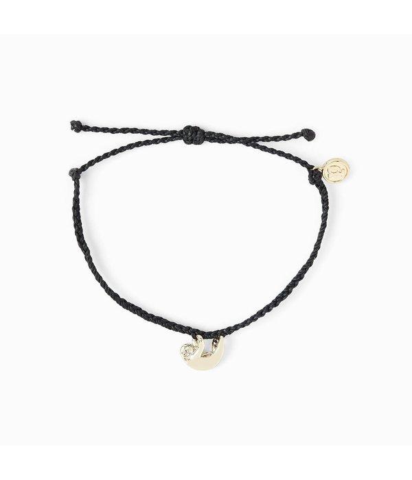 Pura Vida Sloth Pura Vida Black Bracelet 841696141437