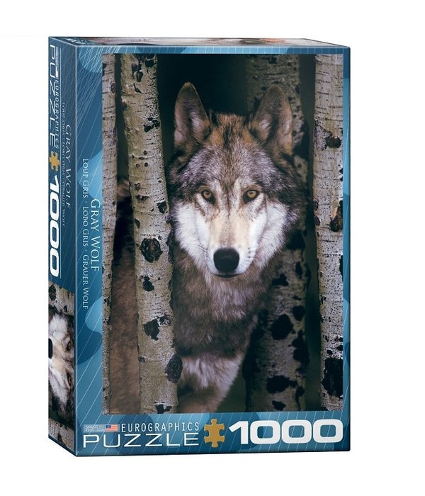 1000 Piece Gray Wolf Puzzle