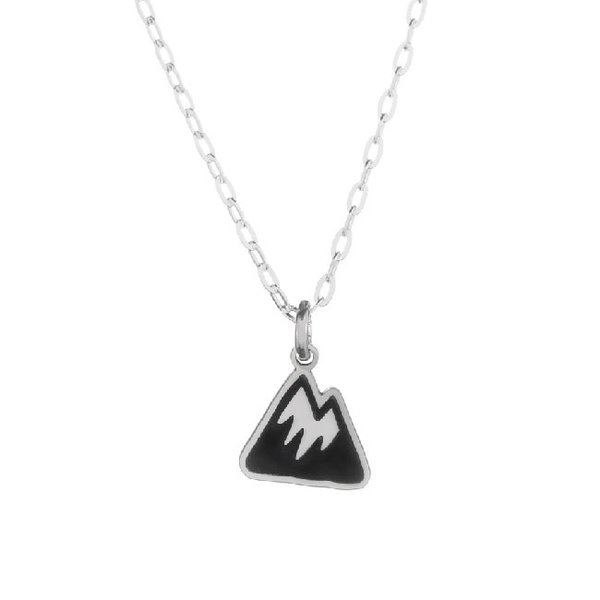 Silver Tiny Mountain Necklace