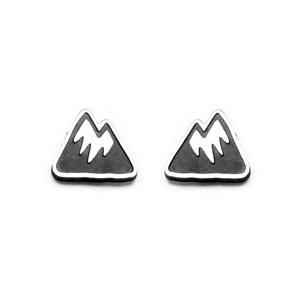Silver Mountain Stud Earrings