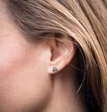 Silver Mountain Stud Earrings