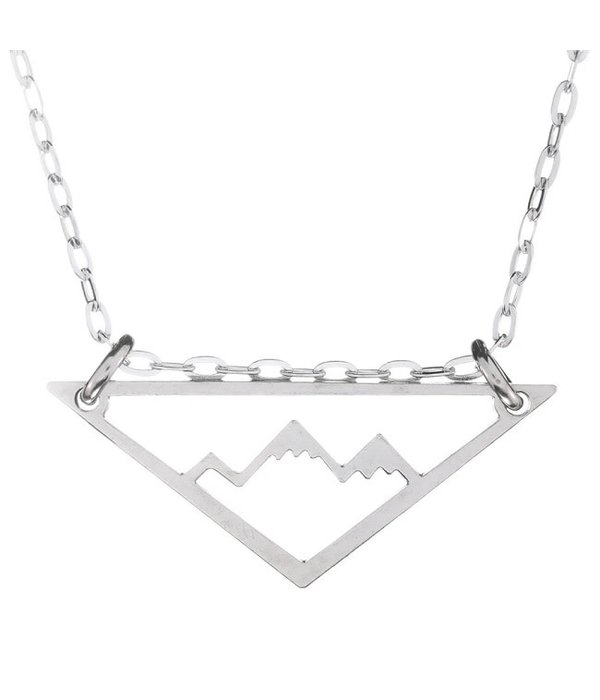 Silver Mountain Adventure Necklace