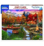 White MTN Puzzles Cozy Cabin 1000 Piece Puzzle