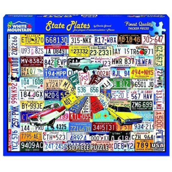 State License Plates 550 Piece Puzzle