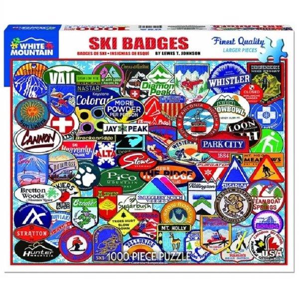 Ski Badges 1000 Piece Puzzle