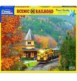 White MTN Puzzles Scenic Railroad 1000 Piece Puzzle