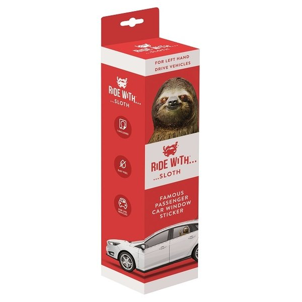Ride With a Sloth Car Sticker