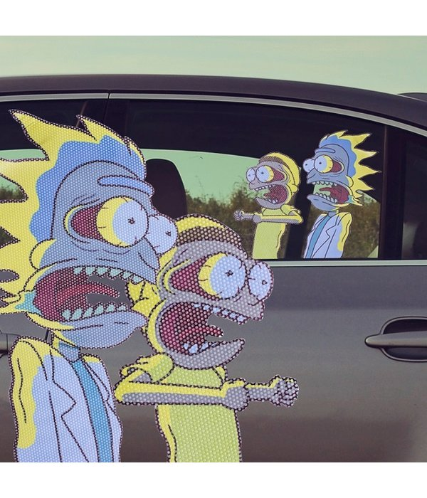 Ride With Rick and Morty Car Sticker