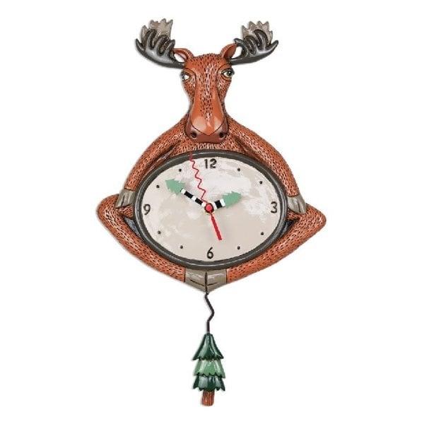 Yoga Moose Clock