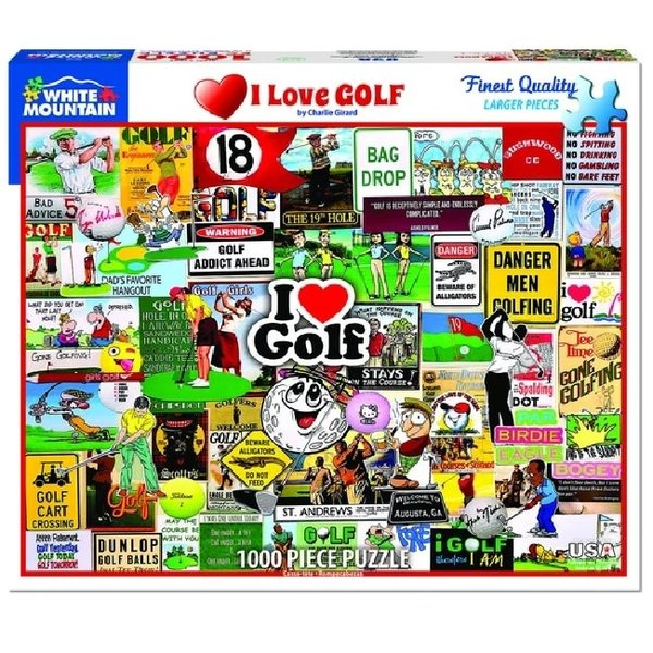 1000 Piece I Love Golf Puzzle