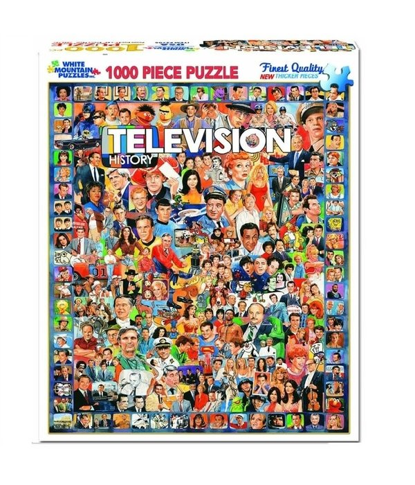 White MTN Puzzles 1000 Piece Television History Puzzle