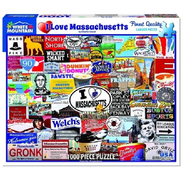 1000 Piece I Love Massachusetts Puzzle