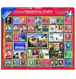 White MTN Puzzles 1000 Piece Presidential Stamps Puzzle