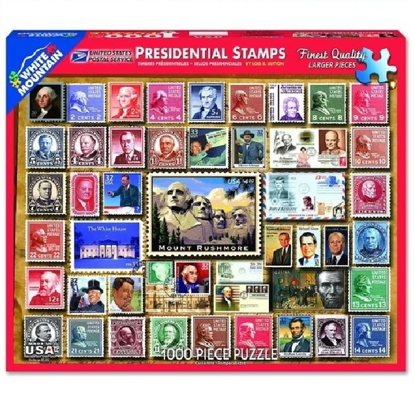 1000 Piece Presidential Stamps Puzzle