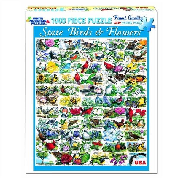 1000 Piece State Birds and Flowers Puzzle