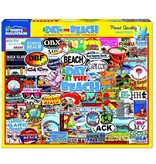 White MTN Puzzles 1000 Piece A Day At The Beach Puzzle