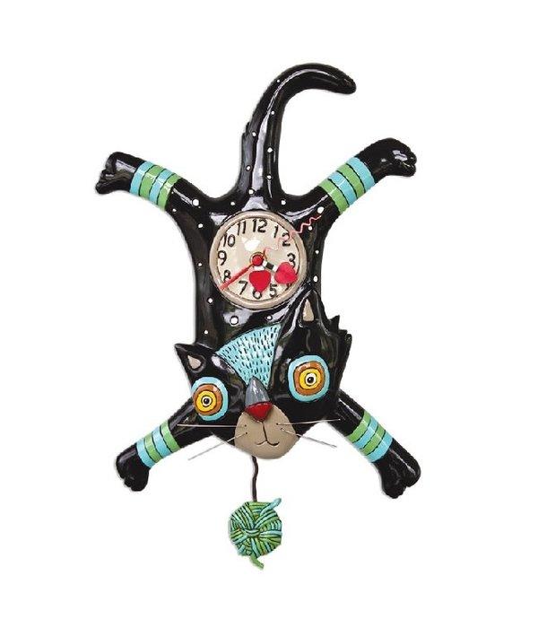 Allen Designs Craft Attack Cat Clock