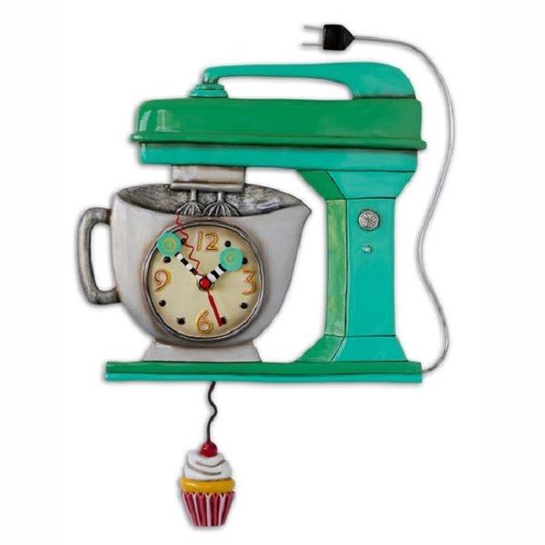 Vintage Green Mixer Clock
