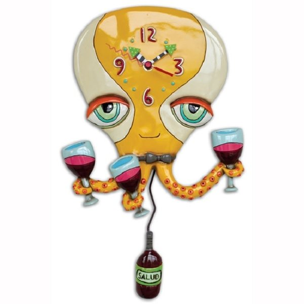 Octopus Wine Clock