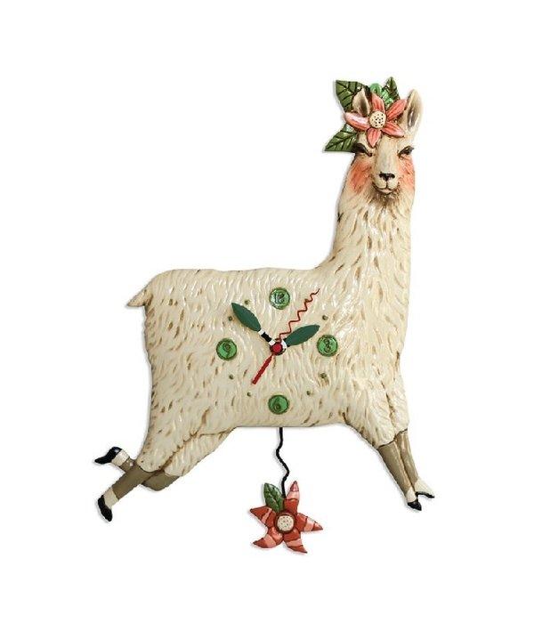 Allen Designs Llama Love Clock