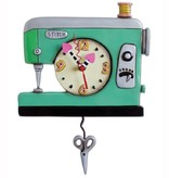 Allen Designs Green Sewing Machine Clock