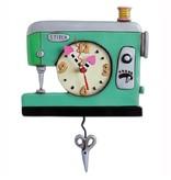 Allen Designs Green Sewing Machine Clock