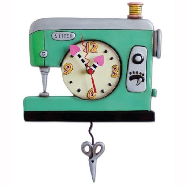 Green Sewing Machine Clock