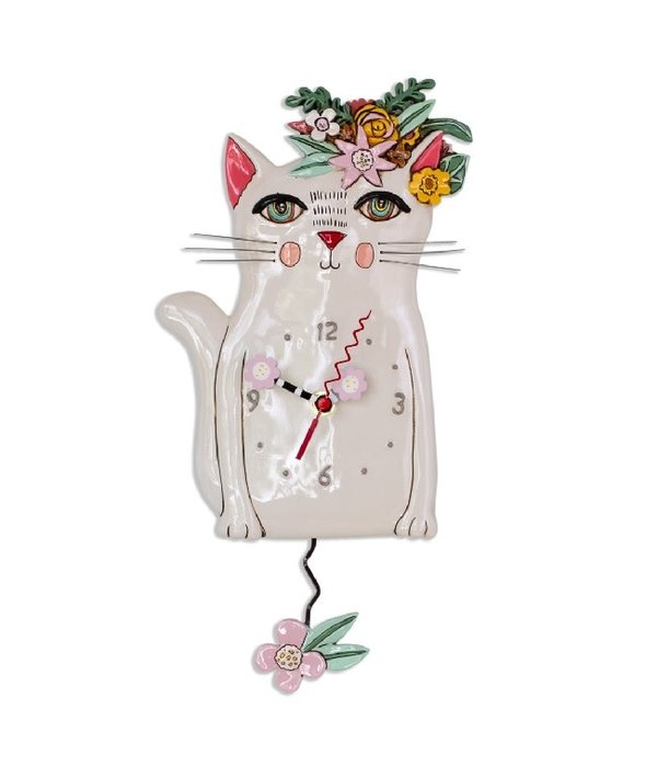 Allen Designs Pretty Kitty Clock