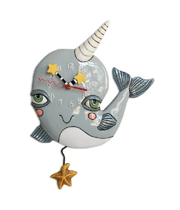 Allen Designs Narly Narwhal Clock