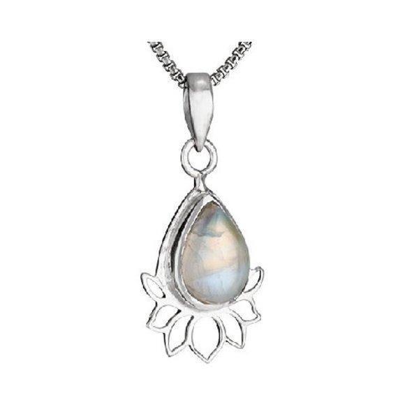 Lotus Moon Stone Necklace