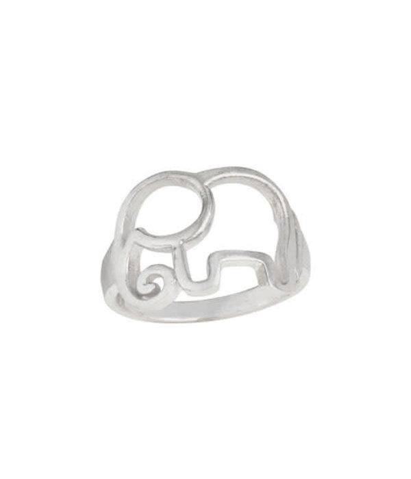 Elephant Outline Ring